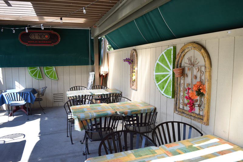 The outside patio at El Nido - Danville's best mexican food